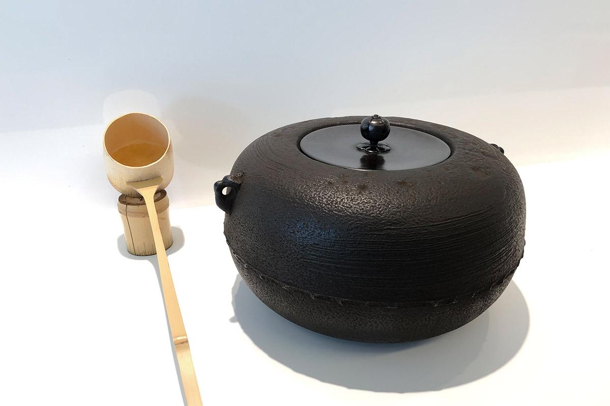 茶釜と柄杓
