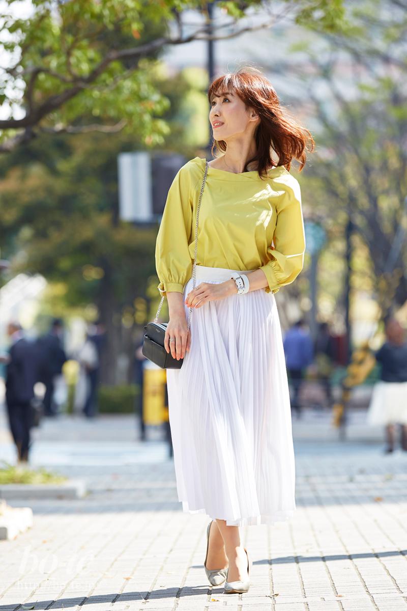 春風が似合うふんわりプリーツスカート