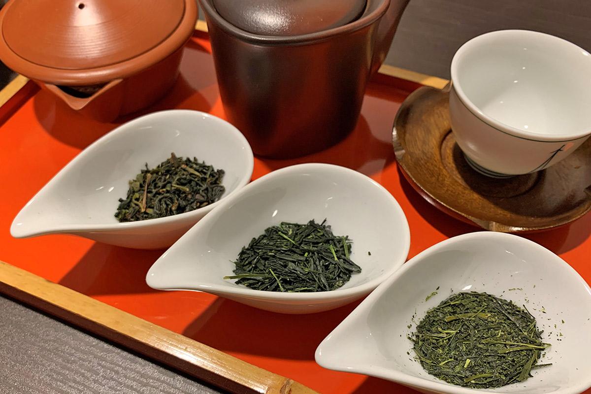 3種の日本茶飲み比べ
