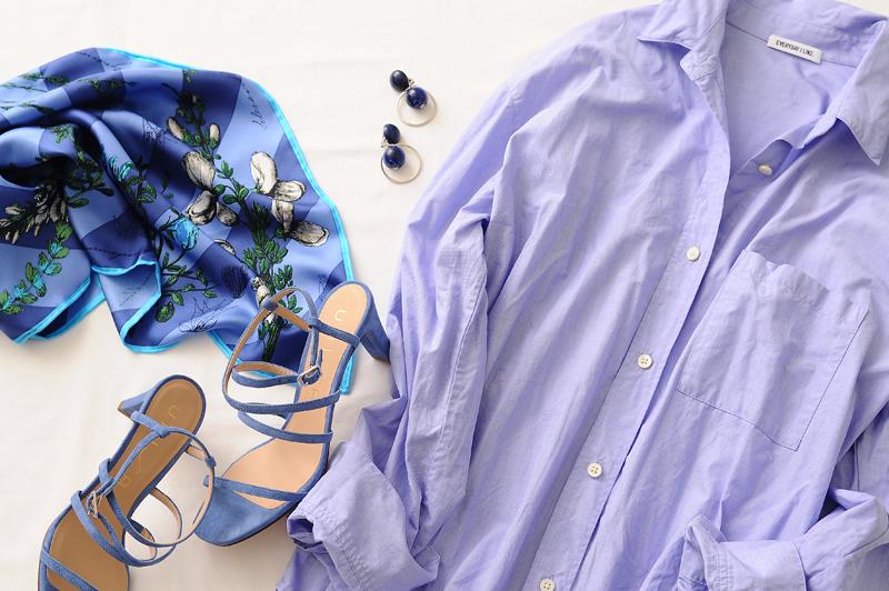 春の《ブルー系コーデ》6選!大人の知的な爽やかさを着こなそう