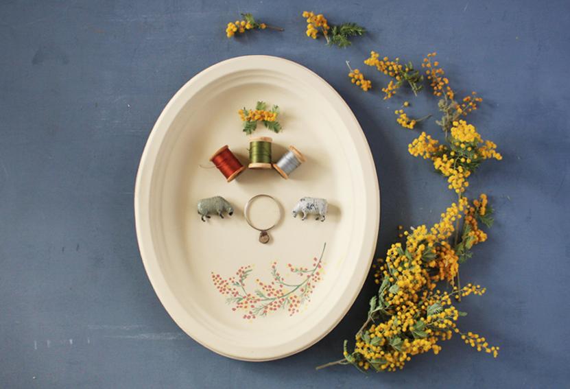 【連載】おうち時間で!『セリア』の紙皿で作る「春色ボタニカルプレート」