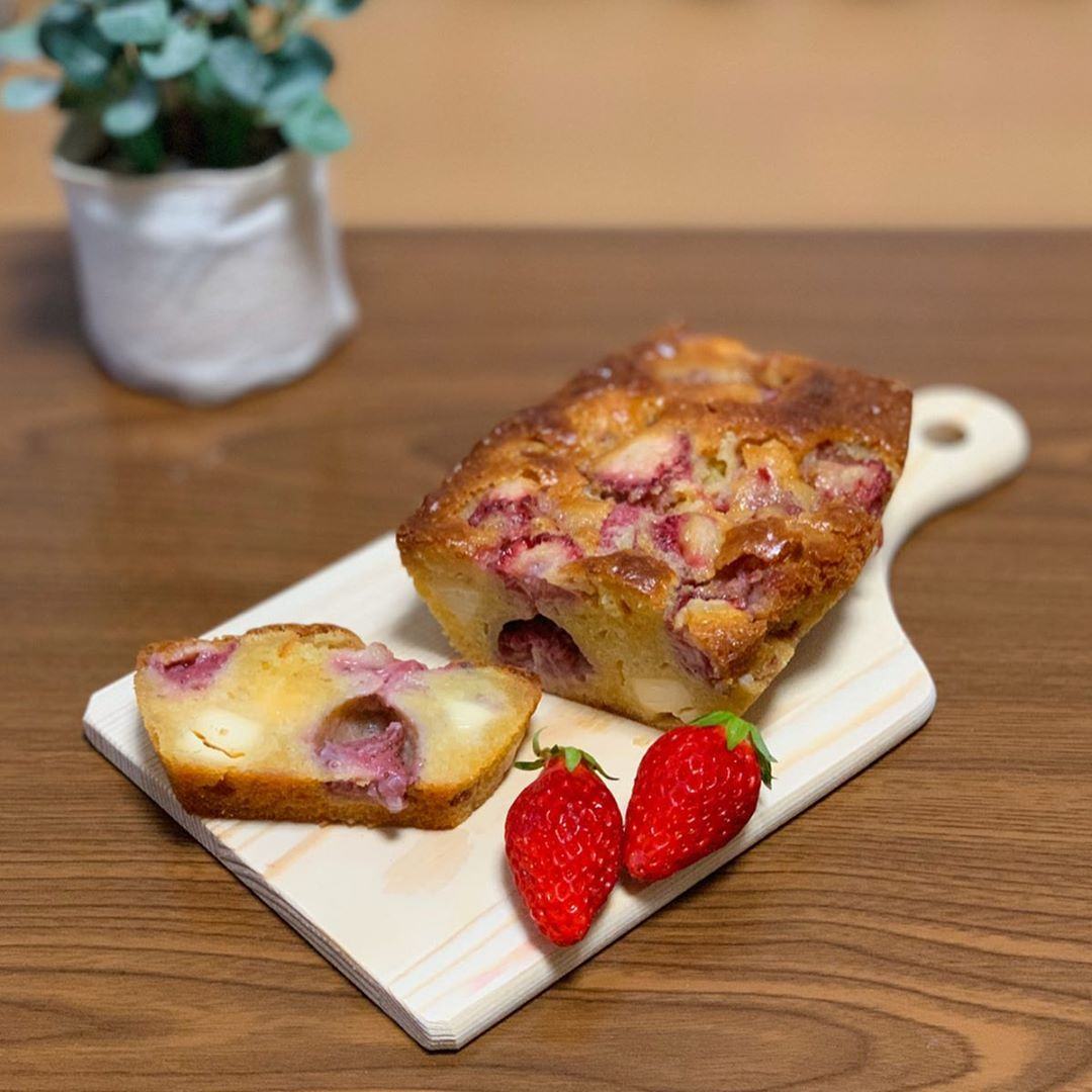 おうちカフェのパウンドケーキ
