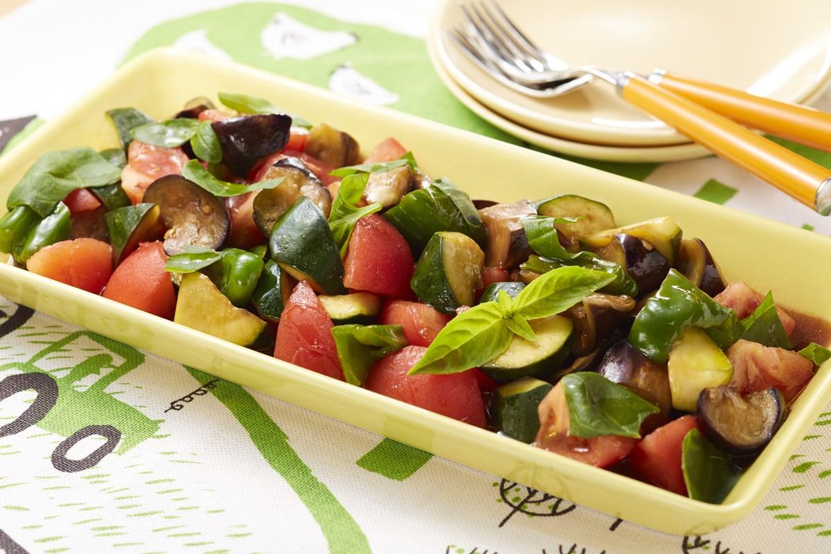 めんつゆで夏野菜イタリアンマリネ