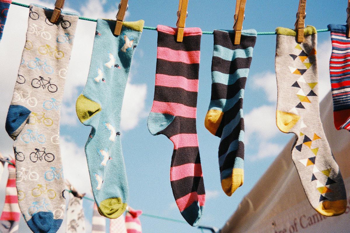 靴下を下洗いする