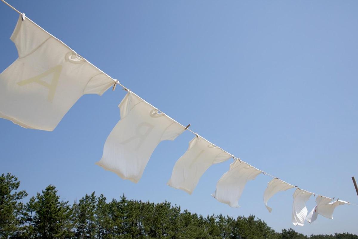 洗濯物の干し方