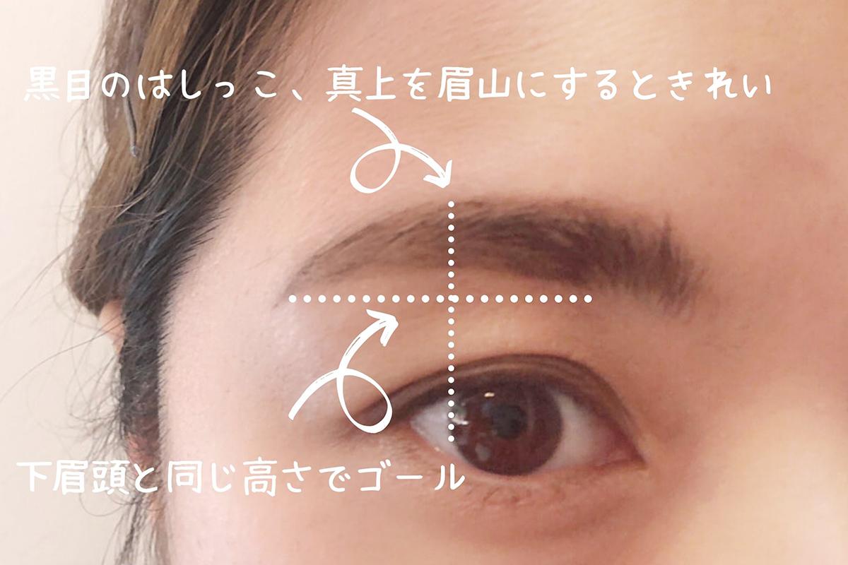 アーチ眉の書き方