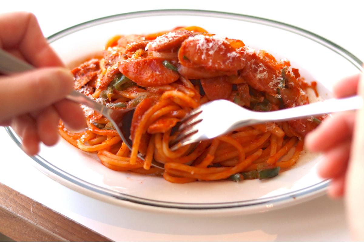 モチモチのスパゲッティ