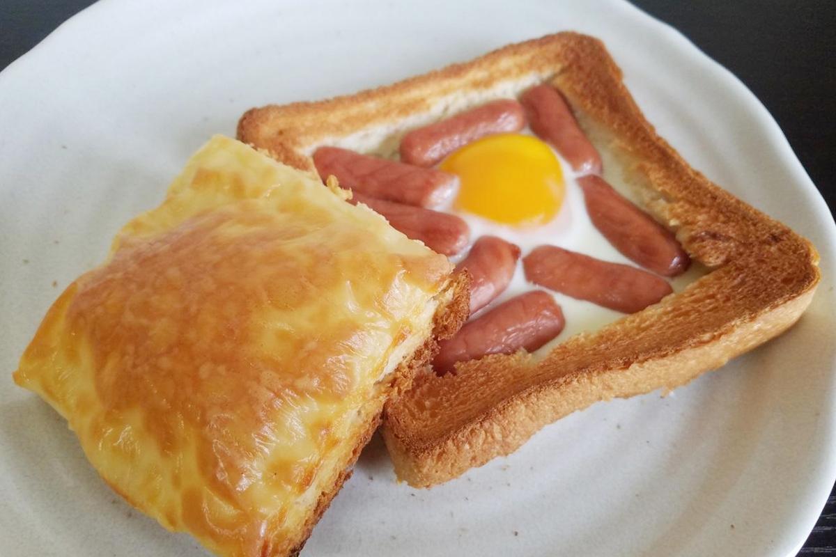 ウィンナーと卵の簡単ボリュームトースト