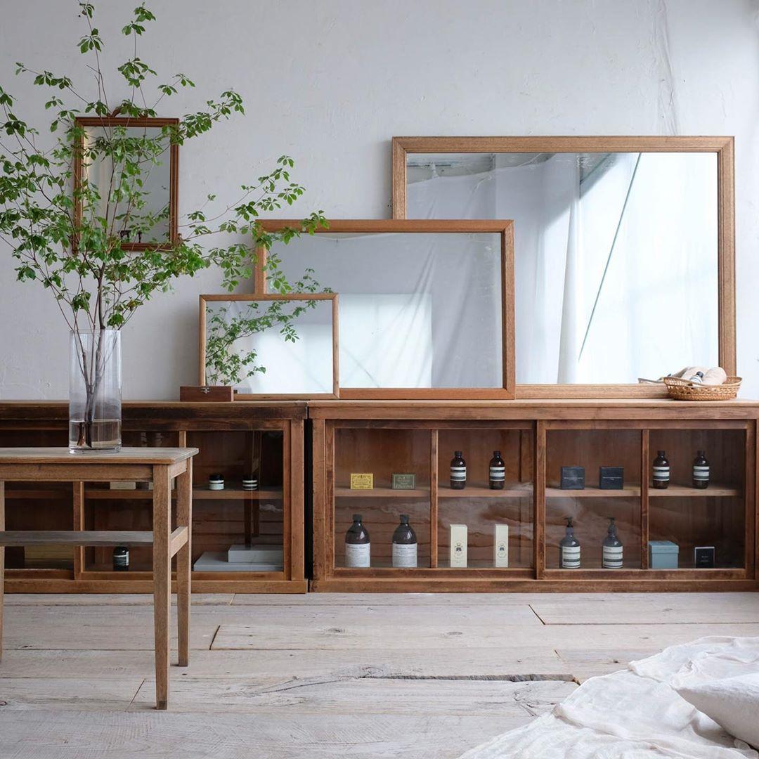 和室インテリアにオススメ 和家具 木の棚