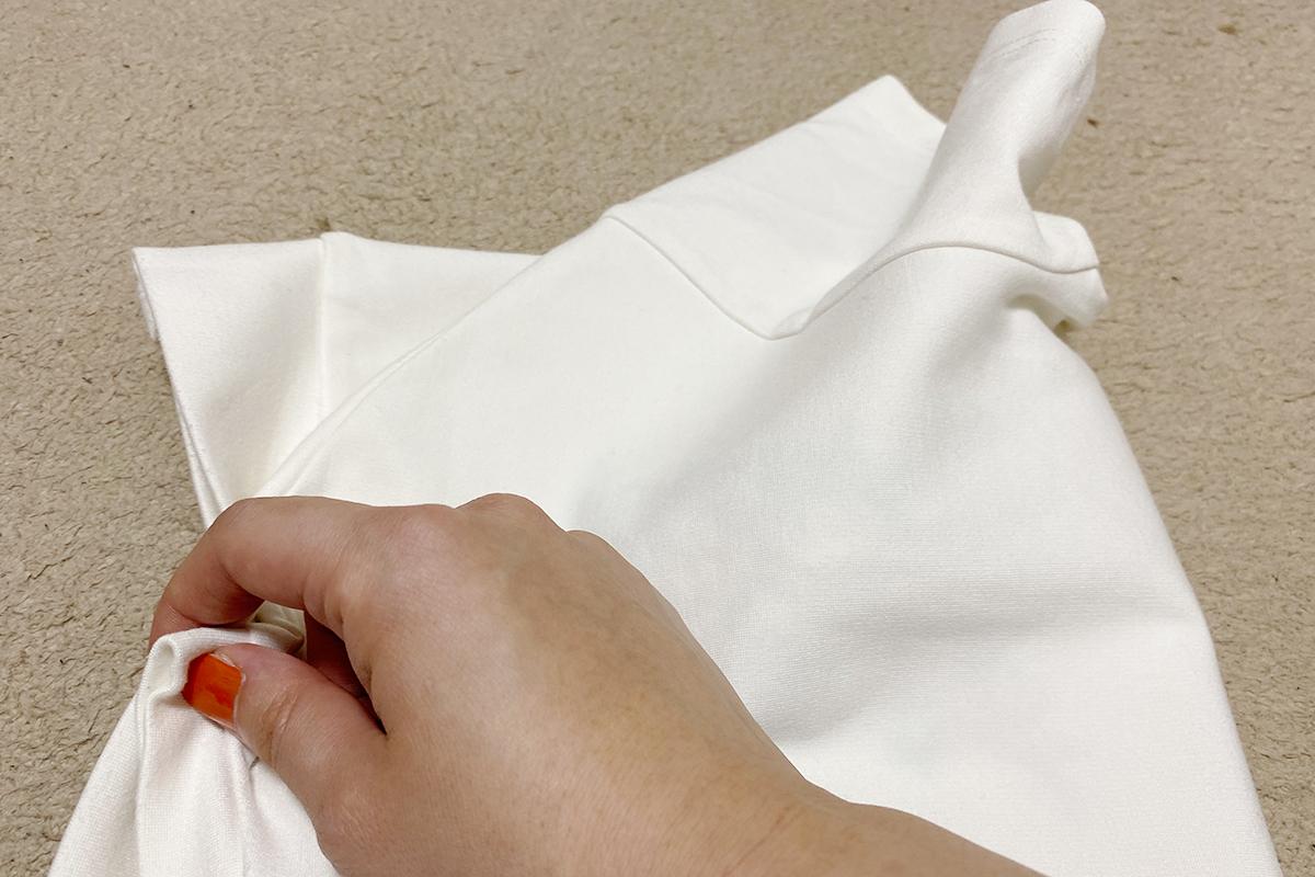 Tシャツのたたみ方基本3