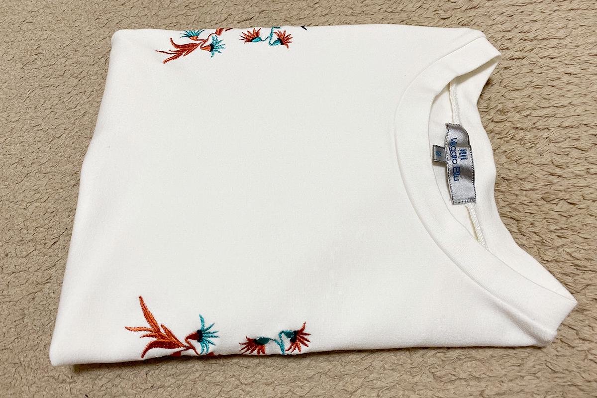 Tシャツのたたみ方基本の形