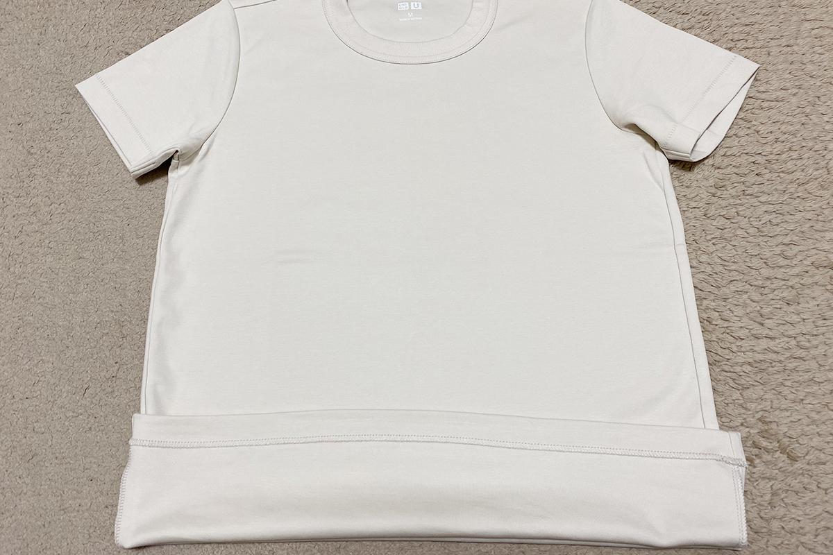 Tシャツのたたみ方裏返し