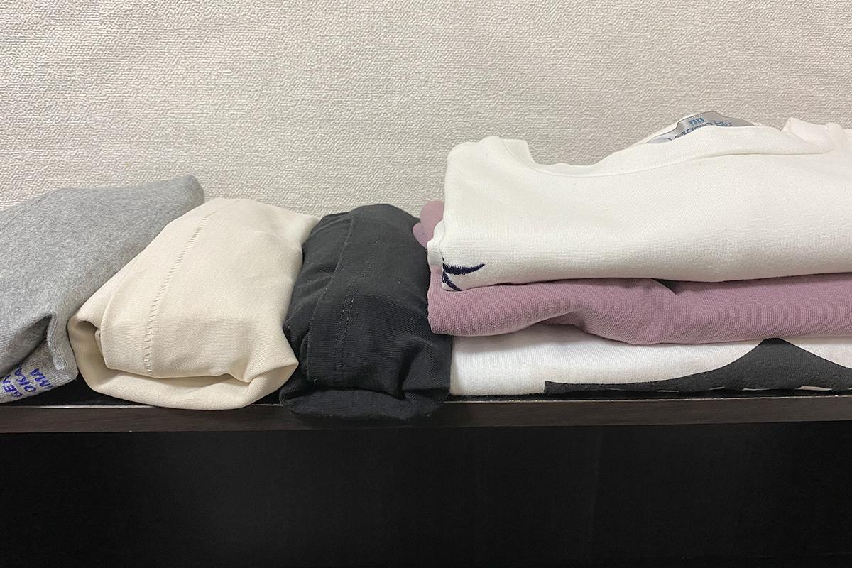 Tシャツのたたみ方コンパクト