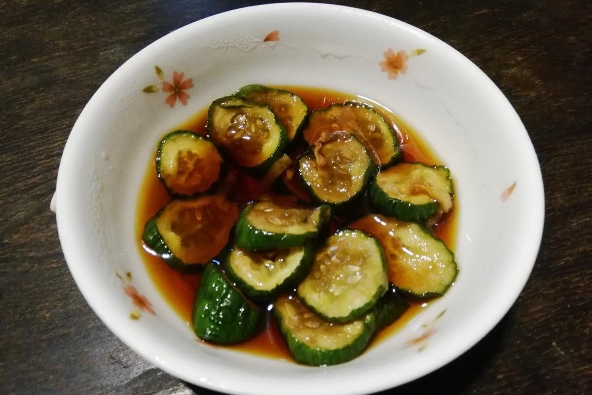 干しキュウリと生姜のパリパリ漬