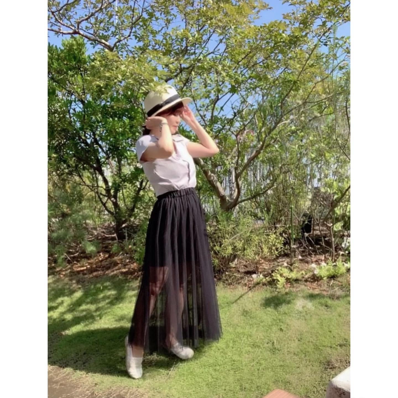 シアー素材スカート1