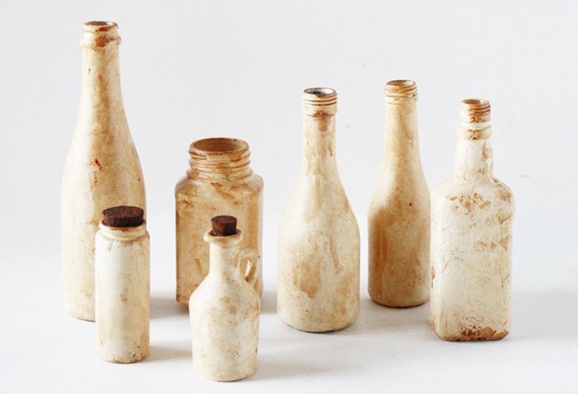 陶器風アンティークボトル