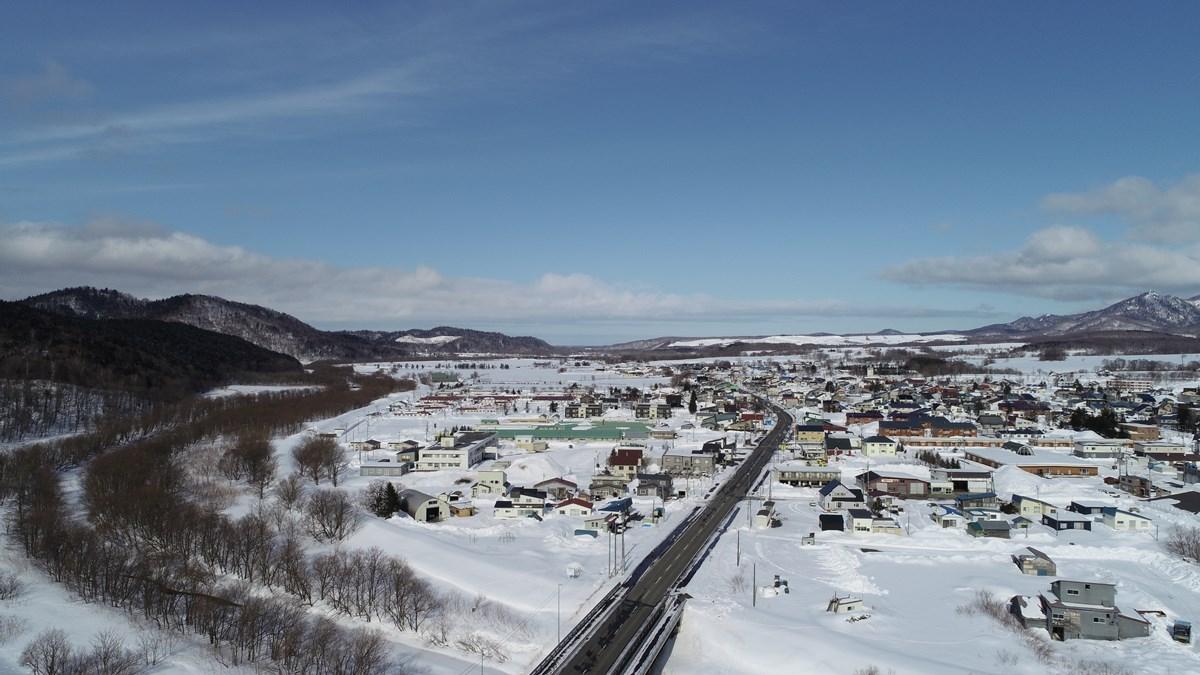 北海道中頓別町の冬景色