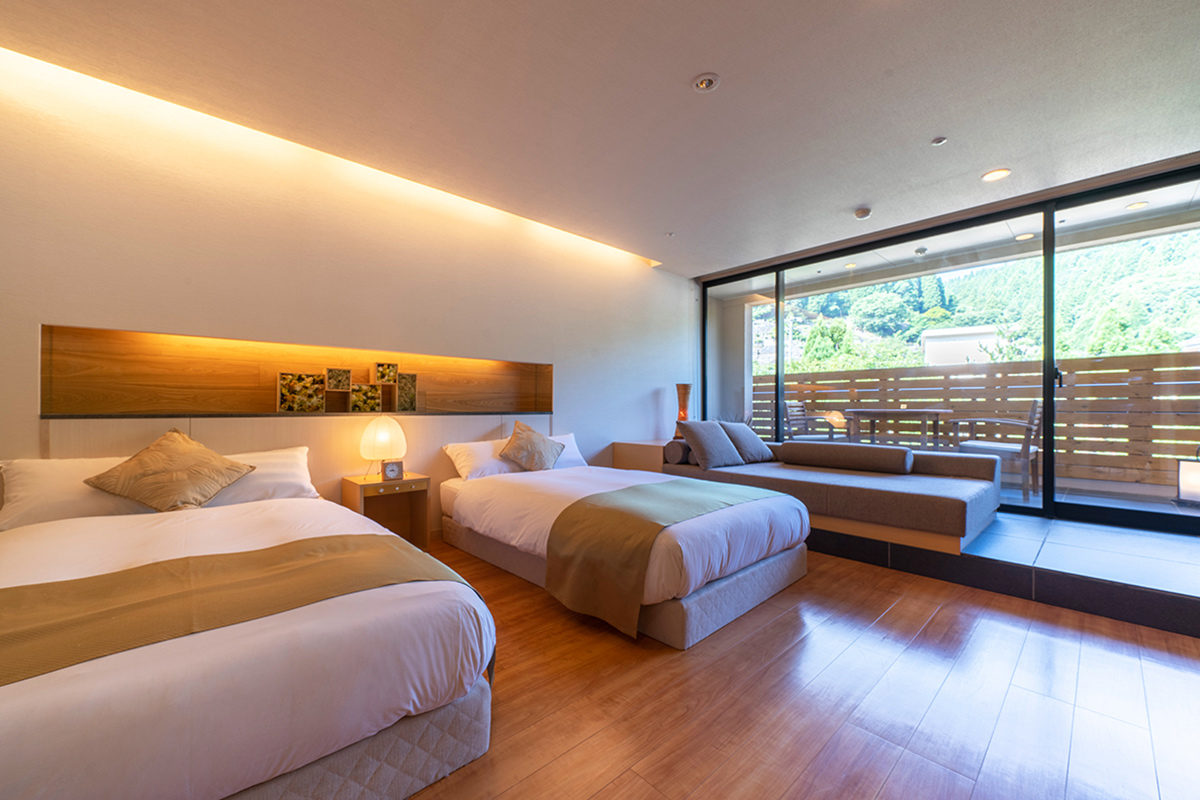 温泉露天風呂付客室スーペリアの部屋