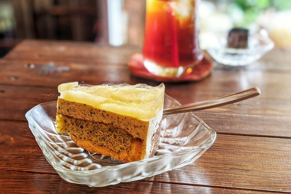 ピーチアールグレイのケーキ