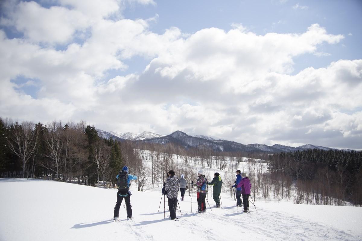 北海道中頓別町で雪山遊び