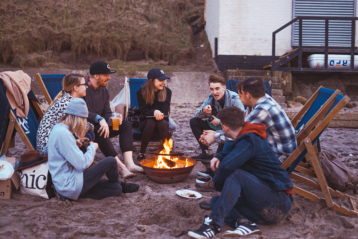 友人達とキャンプ
