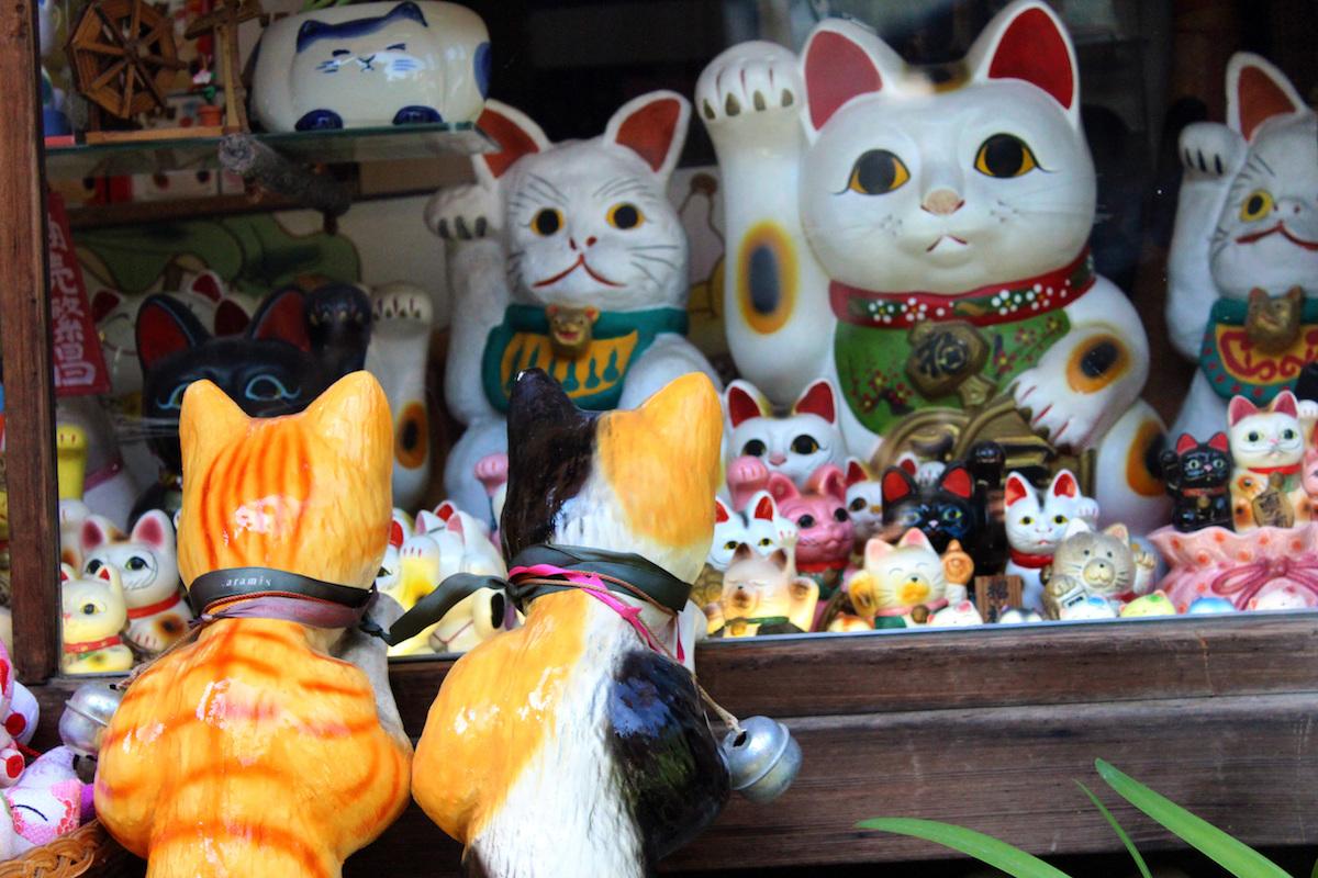 いろいろな招き猫
