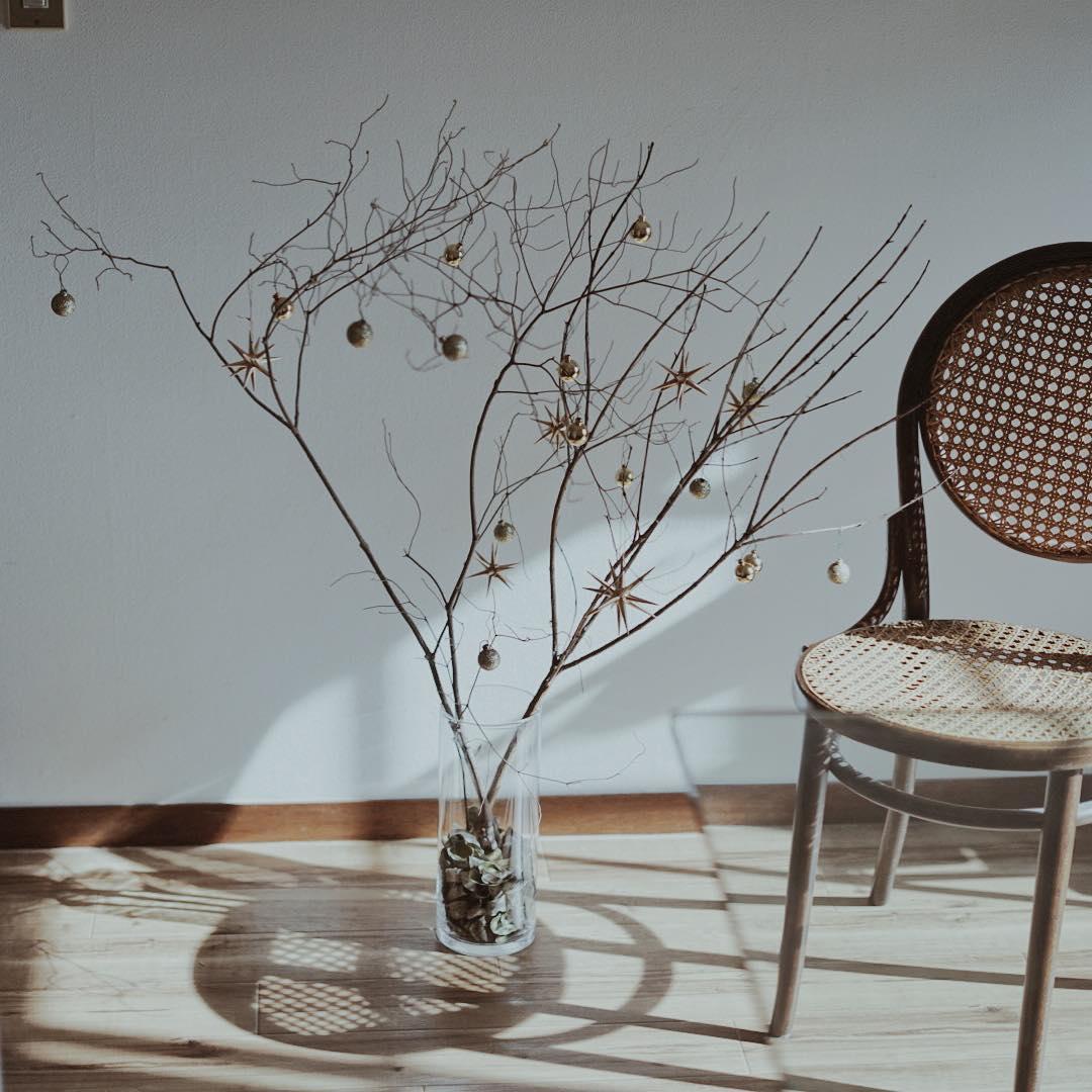 枯れ枝のインテリア