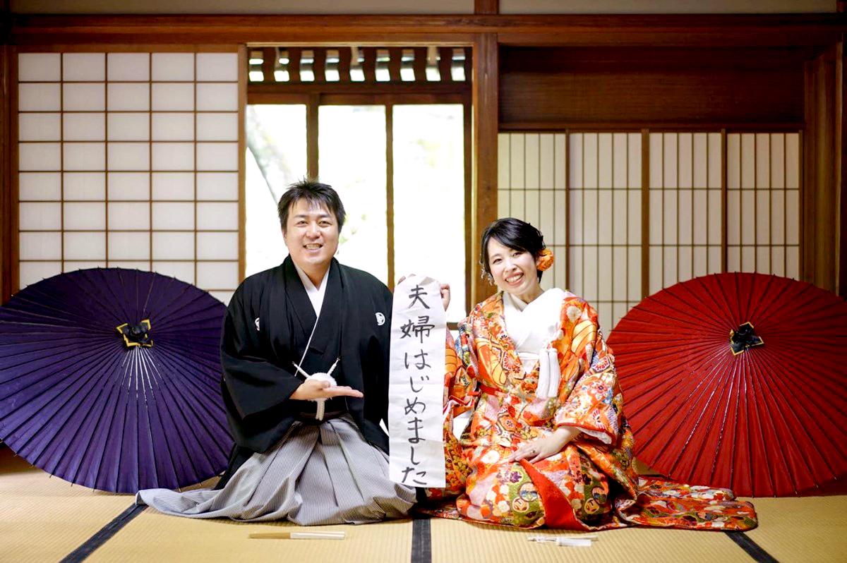 名古屋城で結婚式の前撮り