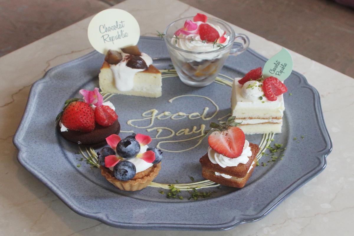 【三宮】『ショコラリパブリック三宮本店』プチケーキのスイーツプレートを