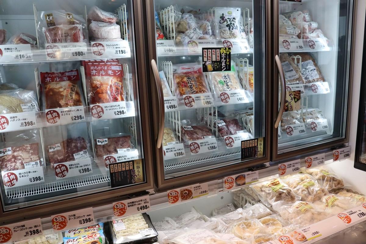 『ダイリキ焼肉市場』冷凍ケース