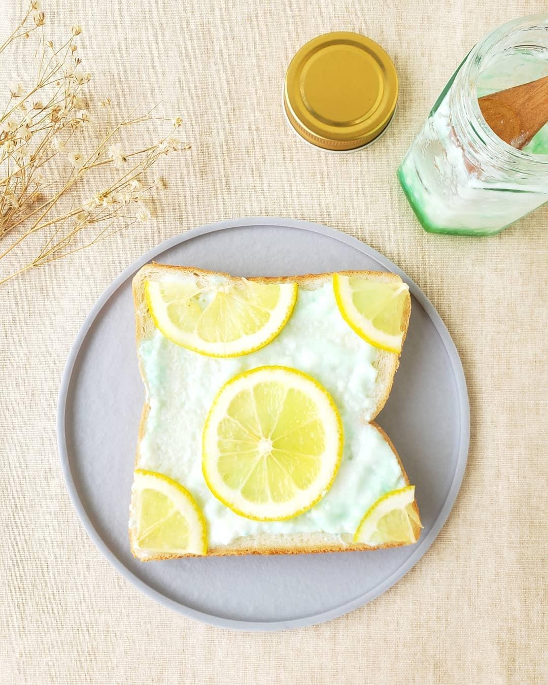オーロラヨーグルトのアレンジレシピ_トースト