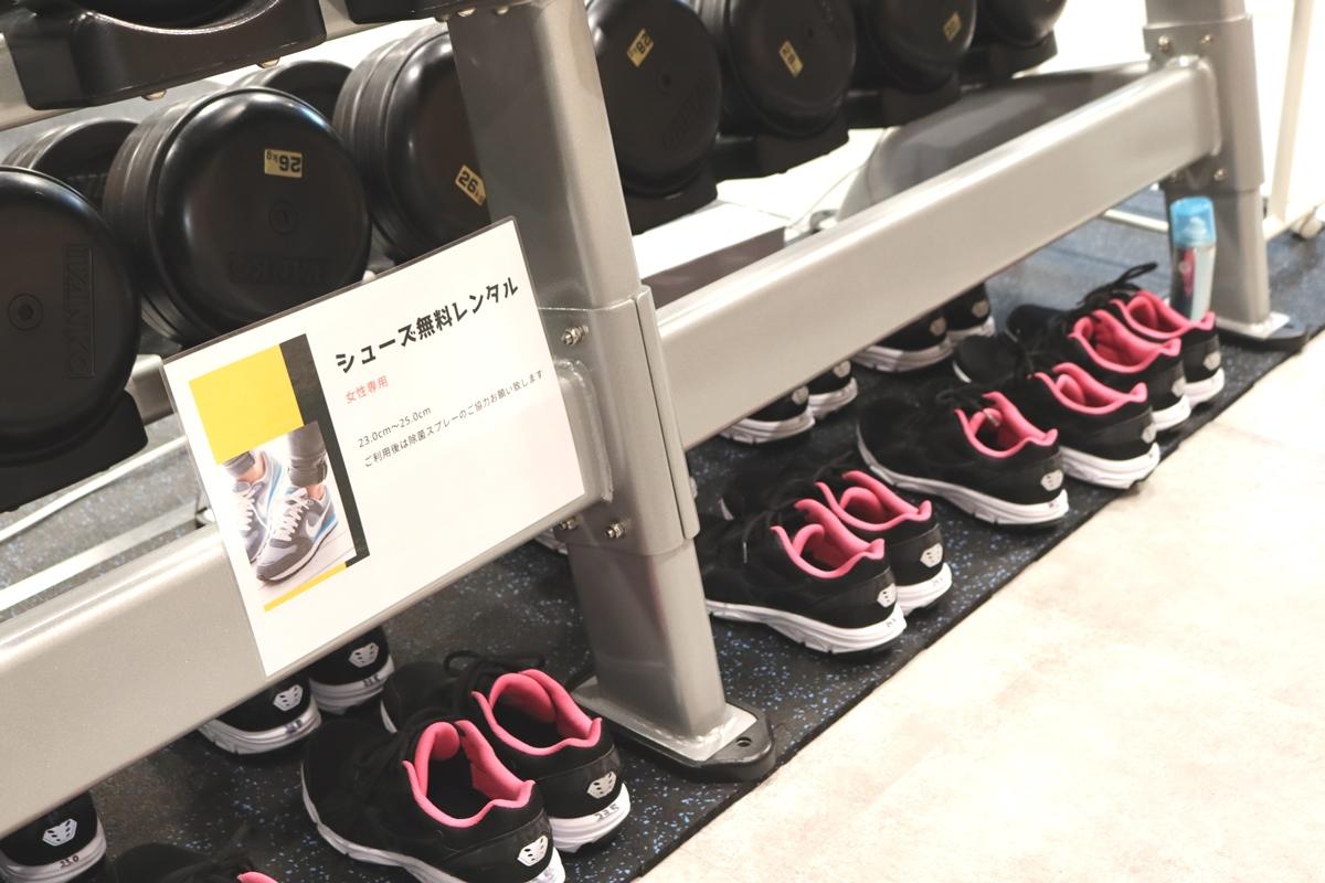 SDF24阪急伊丹駅前店の無料靴レンタルは女性専用