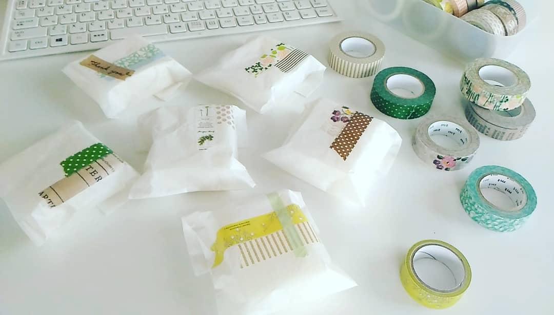 《マスキングテープ活用法4》プレゼントやお菓子のラッピングに