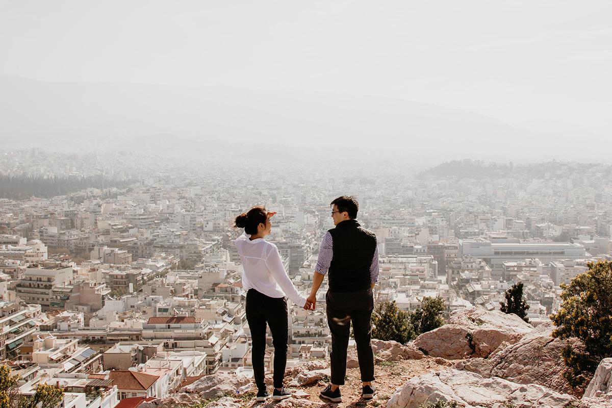 絶景とカップル