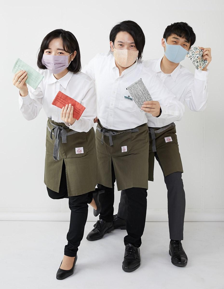 『大丸梅田店』新入社員3人
