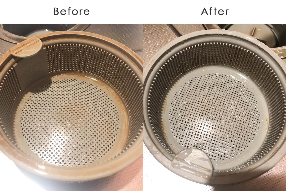 排水口の汚れbefore-after