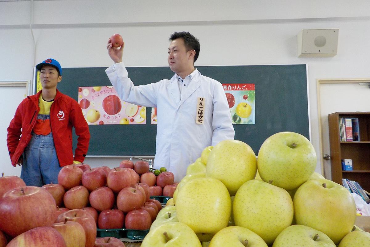 りんご食育授業のりんご博士