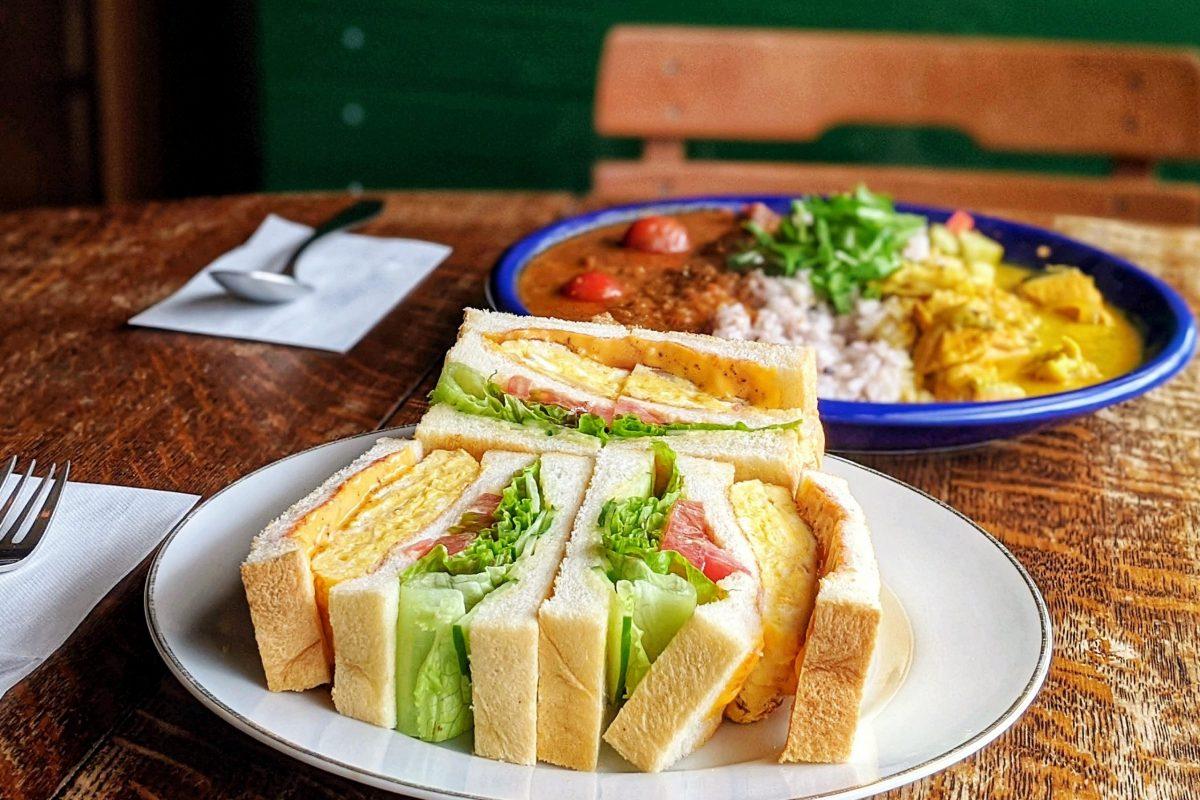 CHABOサンドイッチとカレー