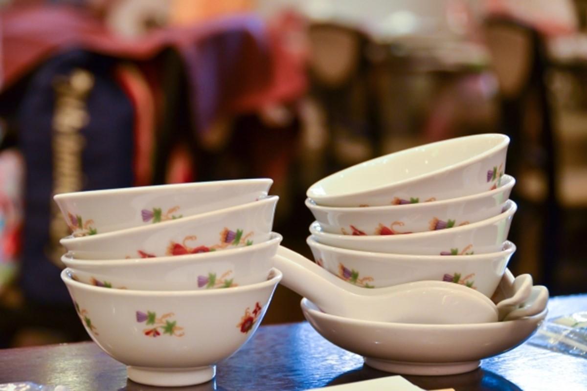 中国料理の取皿は重ねる
