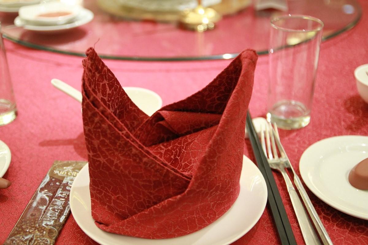 中国料理の円卓と回転テーブル