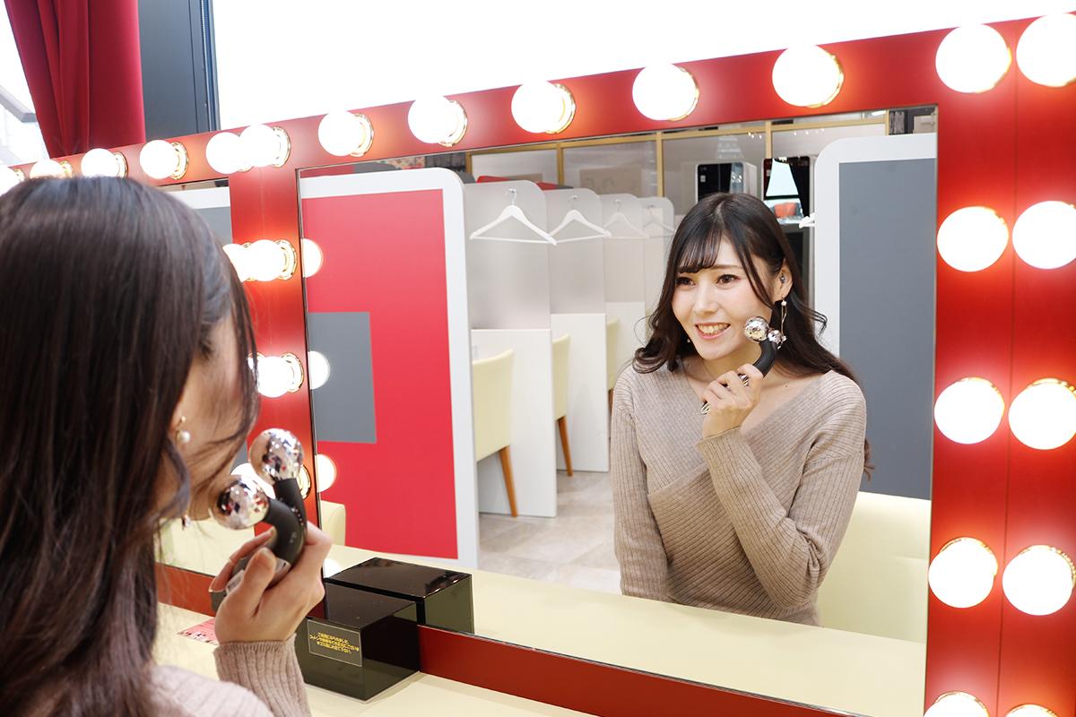美顔器や美容家電が試せる!エディオンなんば本店4階・パウダールーム