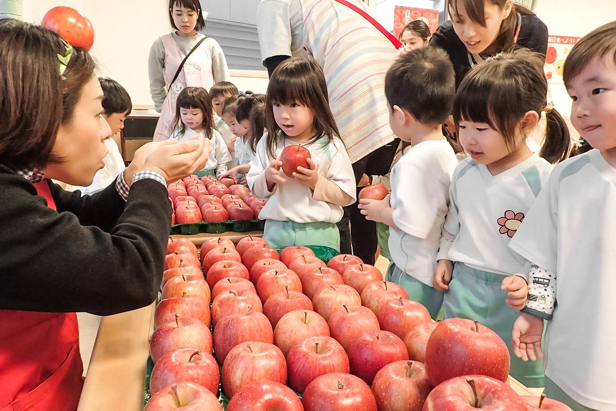 りんごで食育!子どもたちに正しい食の知識や習慣を楽しく伝える食育授業