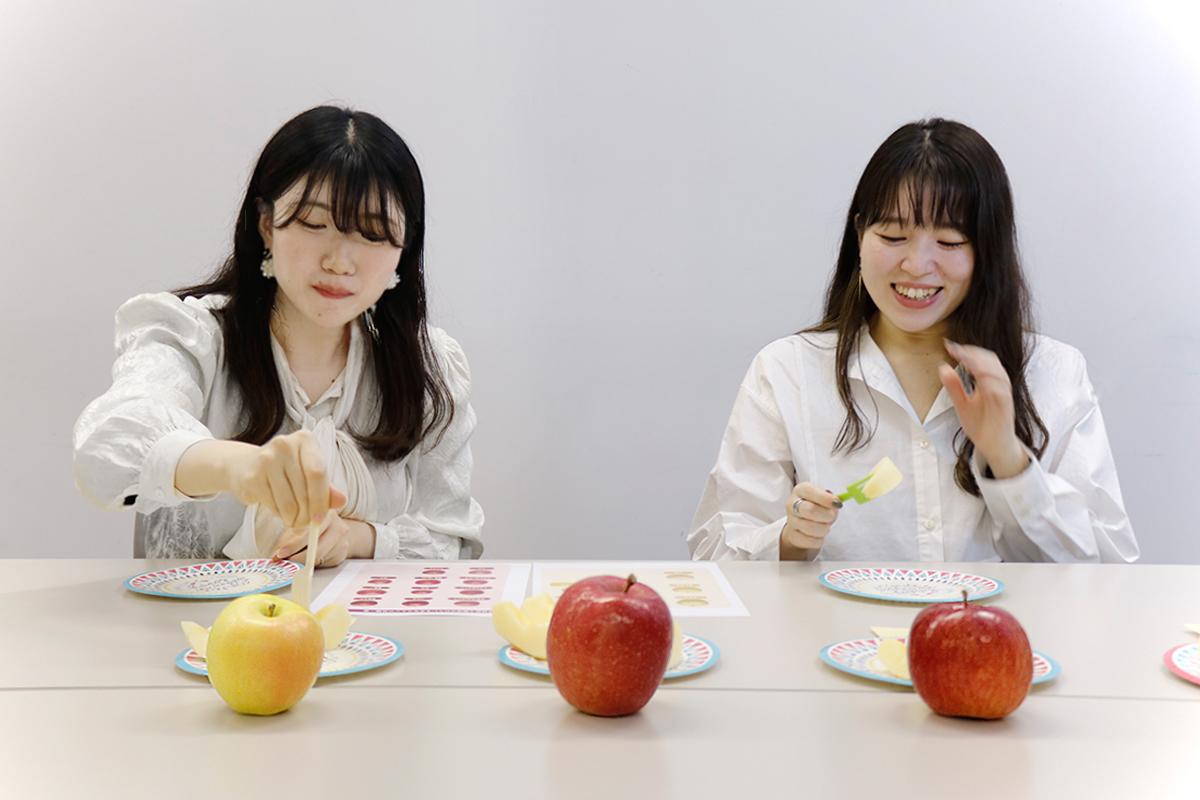 青森りんご試食