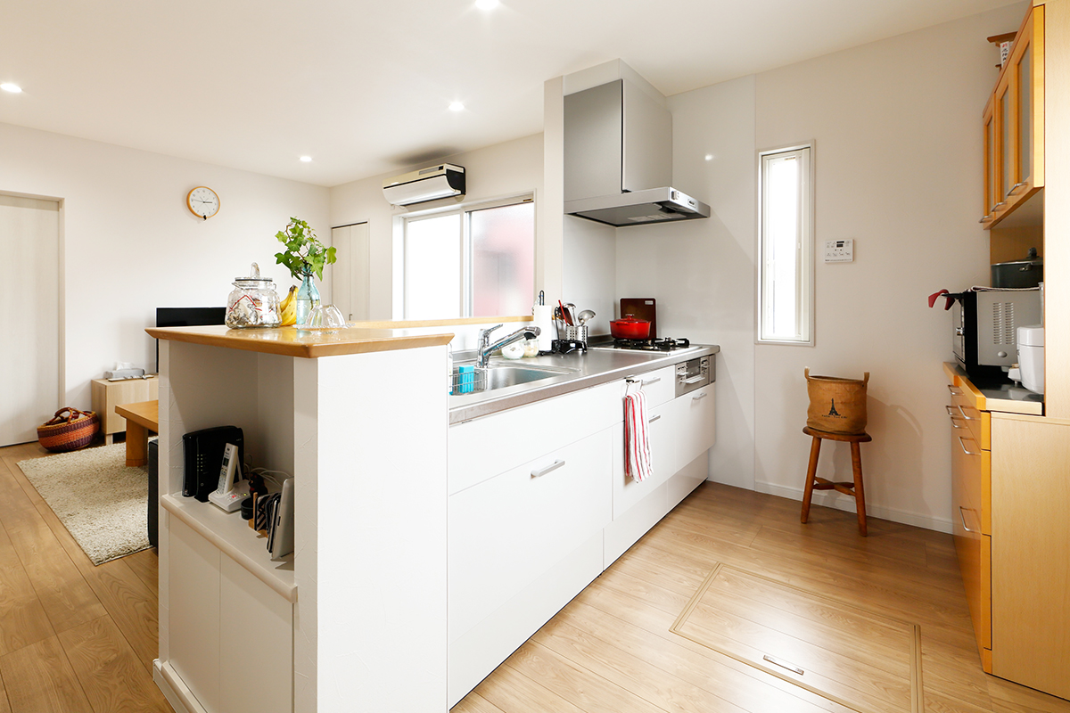 戸建てのキッチン