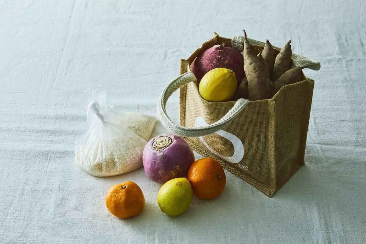 「サステナバッグ」(500円)※有機野菜や新米の詰め放題1回付