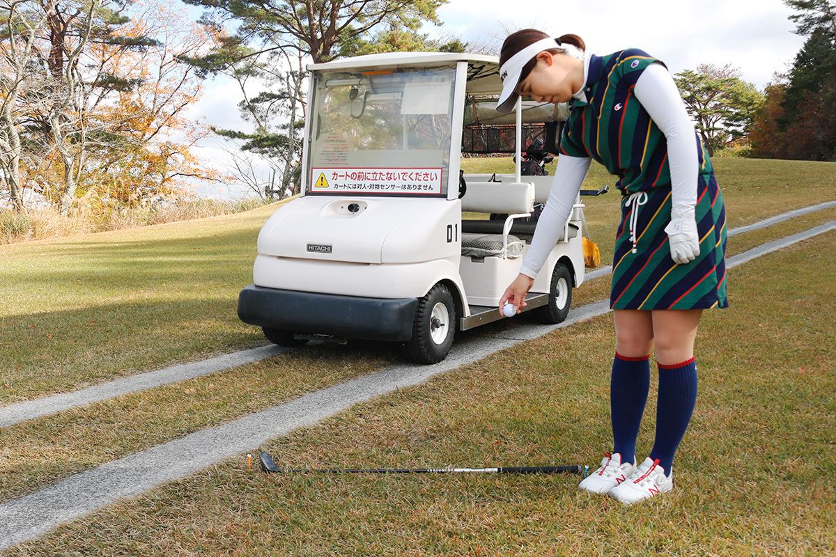 ゴルフのドロップ