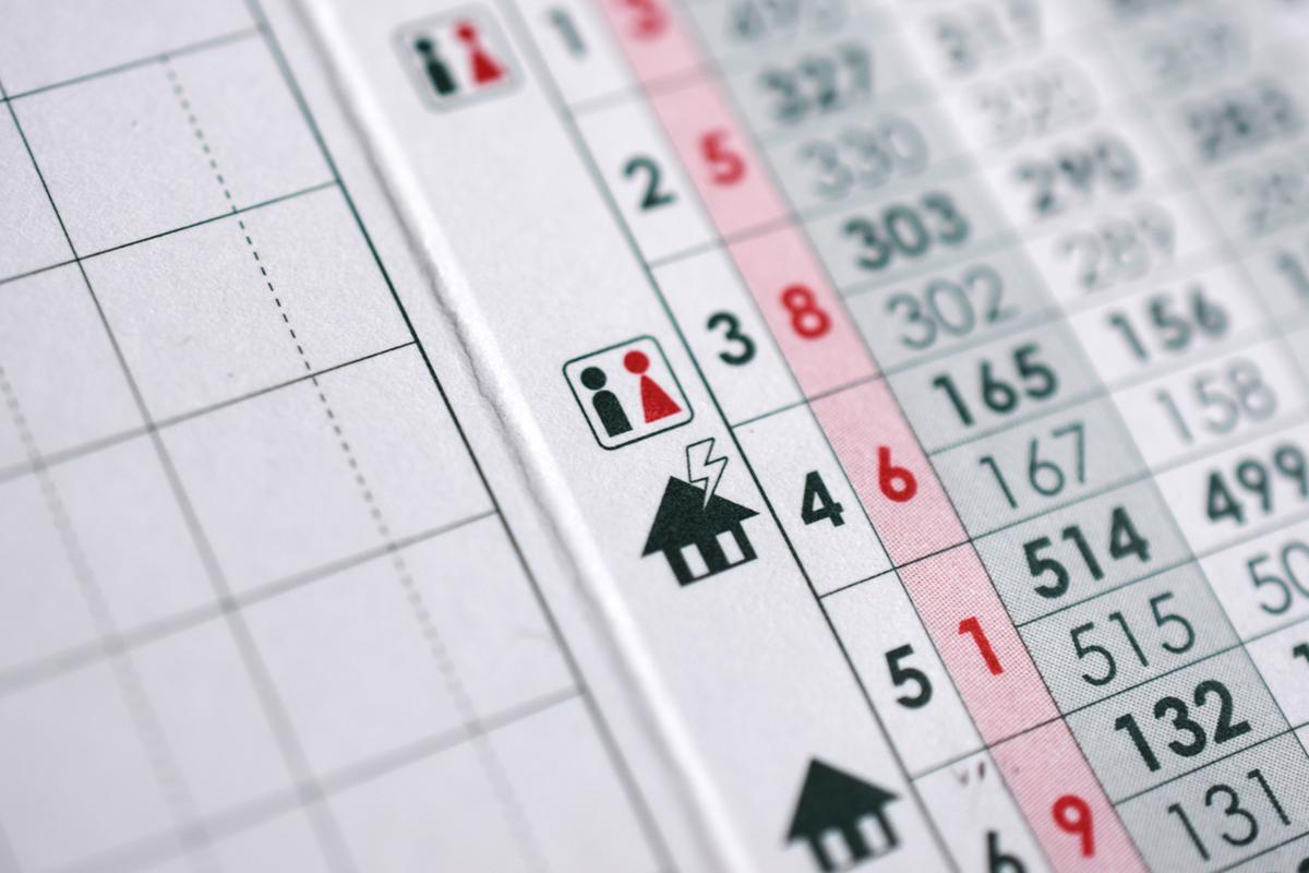 ゴルフスコアカード