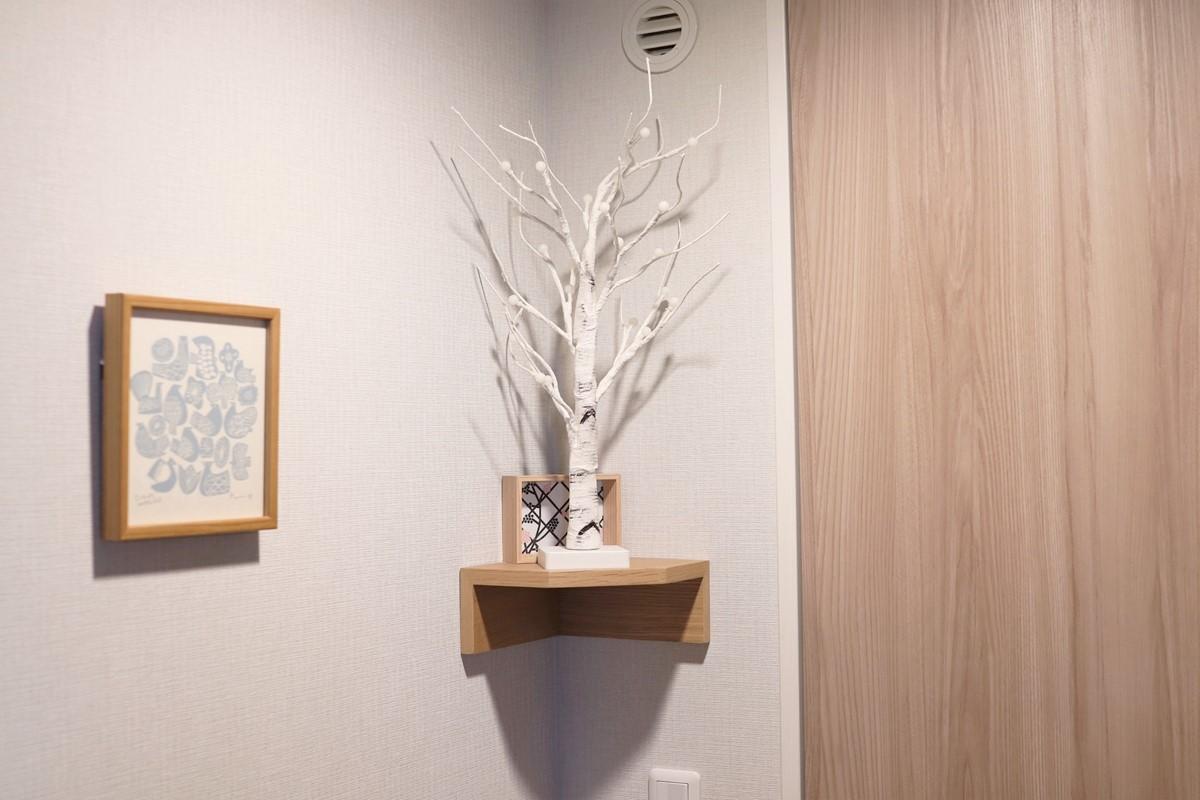 ウォールラックに置いたシラカバツリー