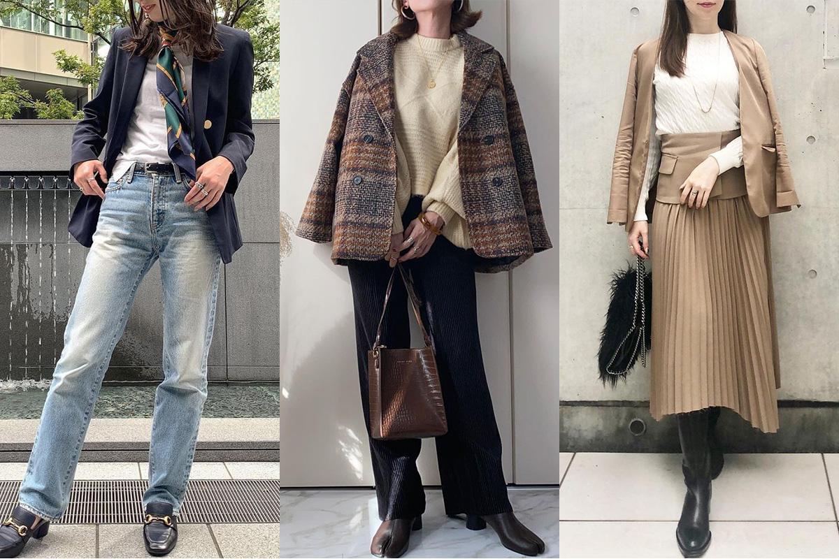 【ジャケットコーデ10選】大人女子は大きめシルエットを品よく着る