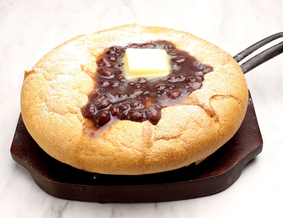 台湾カステラ 米米(ファンファン)梅田「あんバターの台湾カステラパンケーキ」